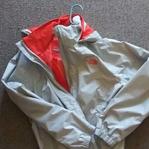 XXL North Face Orange/Grey Rain Coat